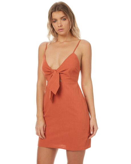 RUST WOMENS CLOTHING MINKPINK DRESSES - MB1706450RUST