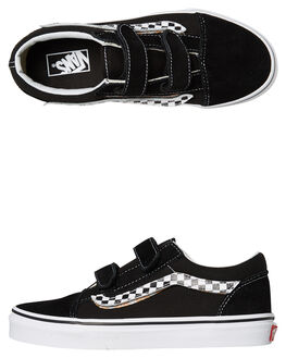 BLACK KIDS BOYS VANS SNEAKERS - VNA38HDUJJBLK