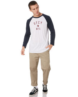 WHITE NAVY MENS CLOTHING STACEY TEES - STTEEARCWHI