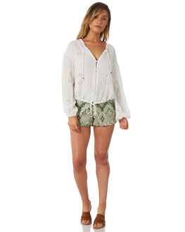 WHITE WOMENS CLOTHING TIGERLILY FASHION TOPS - T382048WHT