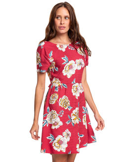 DEEP CLARET SEPT WOMENS CLOTHING ROXY DRESSES - ERJWD03353-RQH6