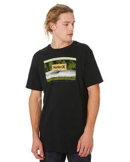 BLACK MENS CLOTHING HURLEY TEES - CI2937010