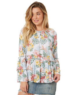 FLORAL WOMENS CLOTHING SWELL FASHION TOPS - S8184168FLORL