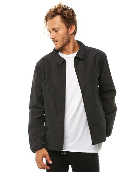 BLACK MENS CLOTHING HERSCHEL SUPPLY CO JACKETS - 15015-00073