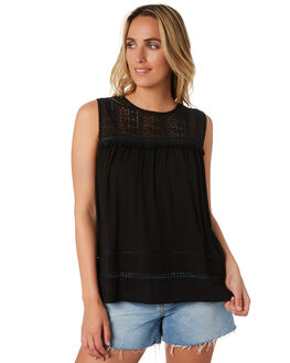 BLACK WOMENS CLOTHING RIP CURL FASHION TOPS - GSHGG10090