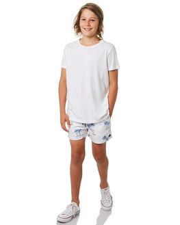 WHITE KIDS BOYS ACADEMY BRAND SHORTS - B20S701WHT