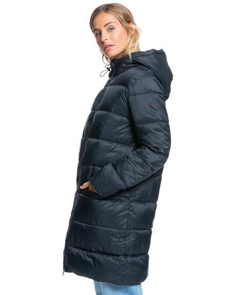 ANTHRACITE WOMENS CLOTHING ROXY JACKETS - ERJJK03409-KVJ0