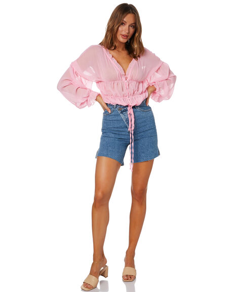 BABY PINK WOMENS CLOTHING SNDYS FASHION TOPS - SFT110SBBPK