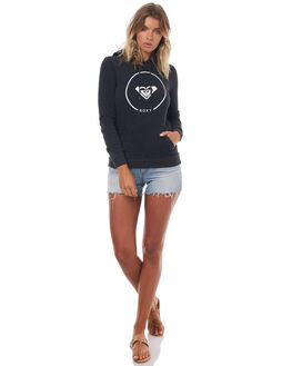 ANTHRACITE HEATHER WOMENS CLOTHING ROXY JUMPERS - ERJFT03592KVJH