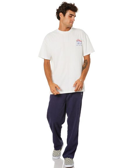 WASHED WHITE MENS CLOTHING MISFIT TEES - MT015007WSHWT