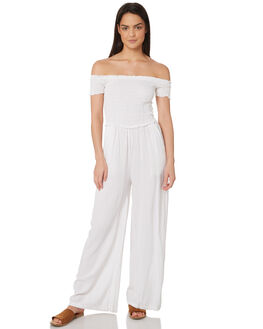 WHITE WOMENS CLOTHING JORGE PLAYSUITS + OVERALLS - 8320057WHT