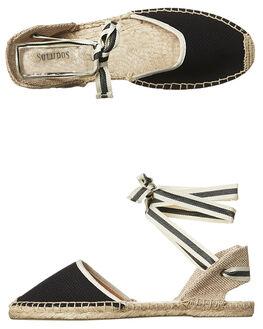 BLACK WOMENS FOOTWEAR SOLUDOS FASHION SANDALS - FSA1001-001