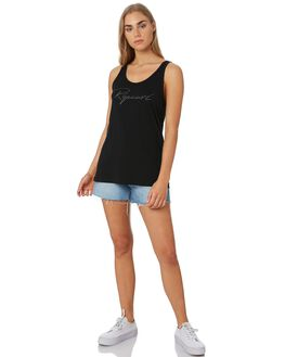 BLACK WOMENS CLOTHING RIP CURL SINGLETS - GTECH20090