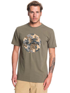DUSTY OLIVE MENS CLOTHING QUIKSILVER TEES - EQMZT03162-GPB0