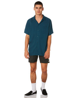 DIRTY BLACK MENS CLOTHING BANKS BOARDSHORTS - BS0176DBLK