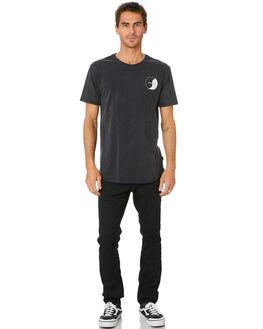 WASHED BLACK MENS CLOTHING SILENT THEORY TEES - 4053021WBLK