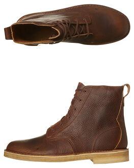 BRONZE BROWN MENS FOOTWEAR CLARKS ORIGINALS BOOTS - SS26115-384M