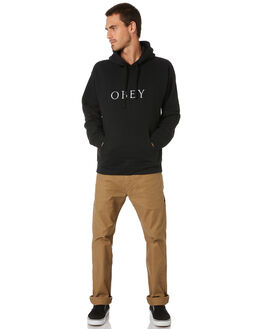 BLACK MENS CLOTHING OBEY JUMPERS - 112470089BLK