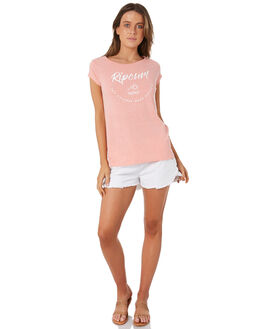 SALMON WOMENS CLOTHING RIP CURL TEES - GTEXD10130