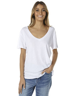 WHITE WOMENS CLOTHING ASSEMBLY TEES - AS-SW1659-WHITEWHT