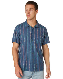 DENIM BLUE MENS CLOTHING BILLABONG SHIRTS - 9581208DNBLU