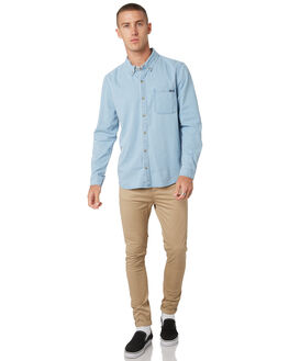 WAVES BLUE MENS CLOTHING WRANGLER SHIRTS - 901448GN6