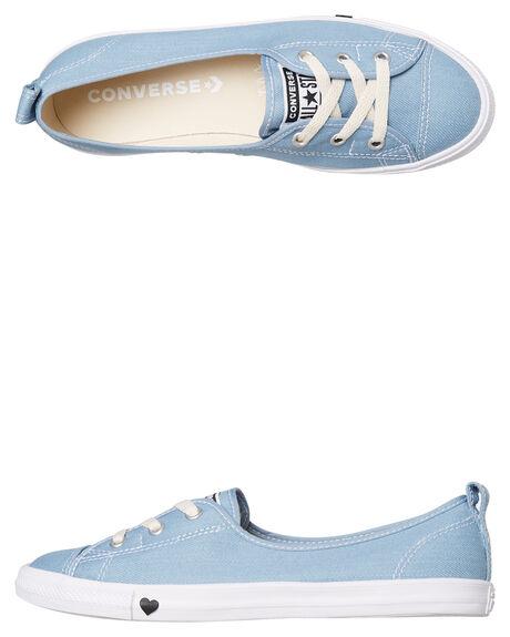 LIGHT BLUE WOMENS FOOTWEAR CONVERSE SNEAKERS - 563492LBLU