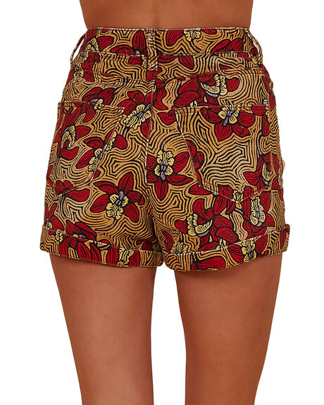 RED WOMENS CLOTHING BILLABONG SHORTS - BB-6507695M-RED