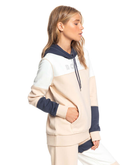 IVORY CREAM WOMENS CLOTHING ROXY JUMPERS - ERJFT04238-TFM0