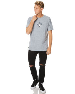 GREY MARLE MENS CLOTHING RVCA TEES - R171051GRYM