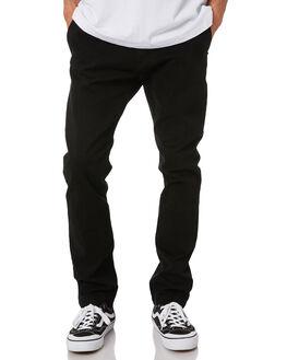 BLACK MENS CLOTHING RUSTY PANTS - PAM1047-BLK