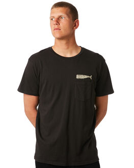 FADED BLACK MENS CLOTHING MOLLUSK TEES - MS31001FBLK