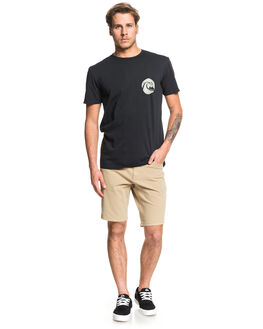 BLACK MENS CLOTHING QUIKSILVER TEES - EQYZT05434-KVJ0