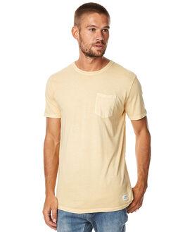 YELLOW MENS CLOTHING KATIN TEES - KNBAS16YLW