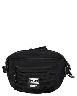 BLACK MENS ACCESSORIES OBEY BAGS + BACKPACKS - 100010108BLK