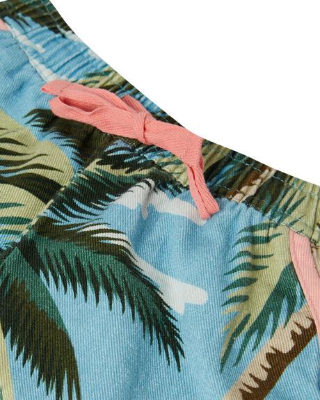 PALM FLAMINGO BLUE KIDS GIRLS PUMPKIN PATCH SHORTS + SKIRTS - 20TG8020SHFLBLU