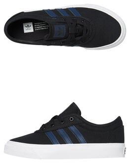 CORE BLACK KIDS BOYS ADIDAS SKATE SHOES - DB3119CBLK