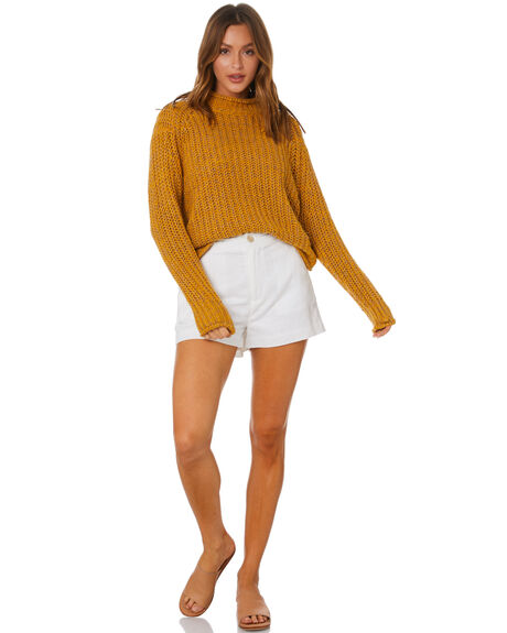 MUSTARD WOMENS CLOTHING MINKPINK KNITS + CARDIGANS - MP2010811MUST