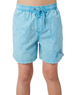 WRASSE BLUE KIDS BOYS RUSTY SHORTS - WKB0297WRB