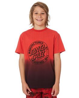 BIG RED DIP DYE KIDS BOYS SANTA CRUZ TOPS - SC-YTC9227BRDP