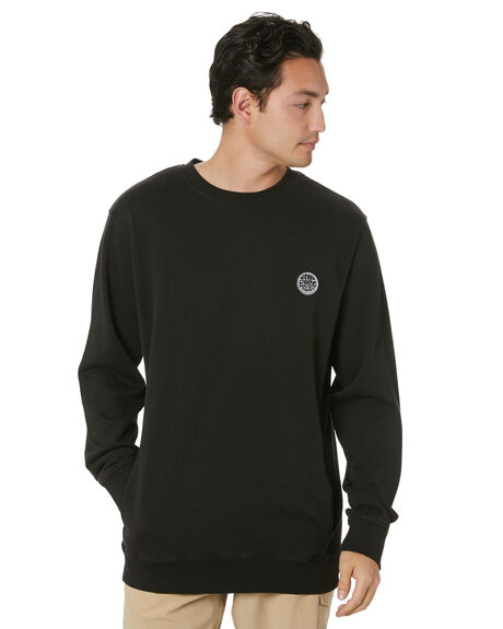 WASHED BLACK MENS CLOTHING RIP CURL JUMPERS - CFEBI98264