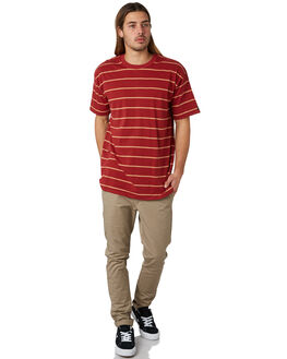 DARK CHERRY BISCUIT MENS CLOTHING ZANEROBE TEES - 141-FTDKCHR