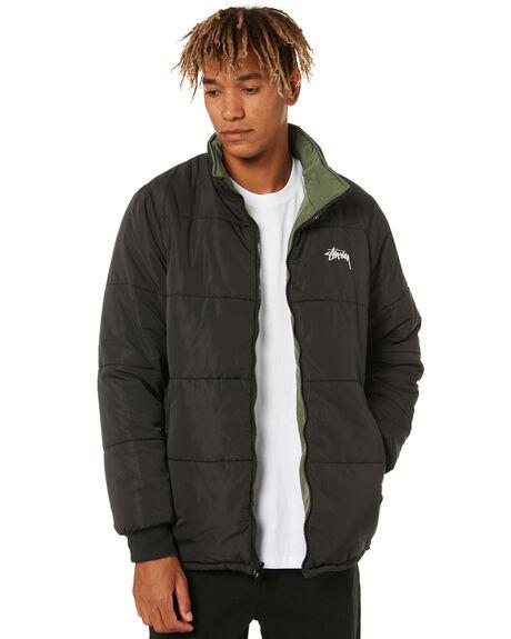 BLACK MENS CLOTHING STUSSY JACKETS - ST001505BLK