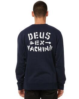 NAVY MENS CLOTHING DEUS EX MACHINA JUMPERS - DMP88109NAVY