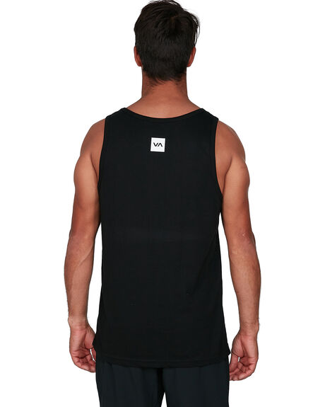 BLACK MENS CLOTHING RVCA SINGLETS - RV-R307003-BLK
