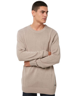 NATURAL MENS CLOTHING ACADEMY BRAND KNITS + CARDIGANS - 18W407NAT