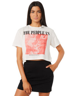 WHITE WOMENS CLOTHING THE PEOPLE VS TEES - HS18W085WHT