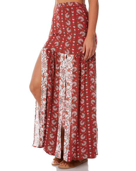 RED WOMENS CLOTHING TIGERLILY SKIRTS - T385278RED