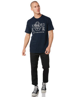 NAVY WHITE MENS CLOTHING KROOKED TEES - 51023436DNVYWH