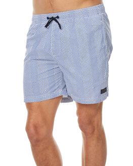 BLUE WHITE MENS CLOTHING ACADEMY BRAND BOARDSHORTS - 18S721BLWH